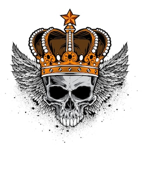 Vecteur de crâne de roi