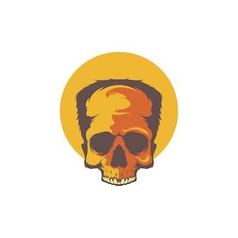 Vecteur de crâne de zombie