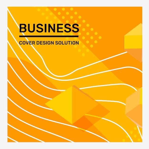 Vecteur créatif couleur jaune vif business abstract illustration abstraction fond