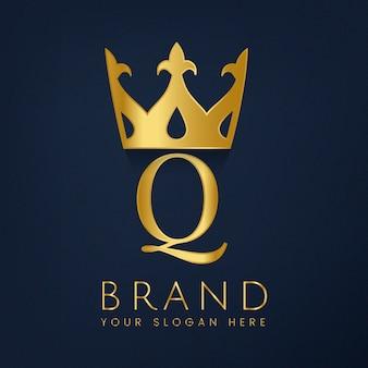 Vecteur créatif de la marque premium q