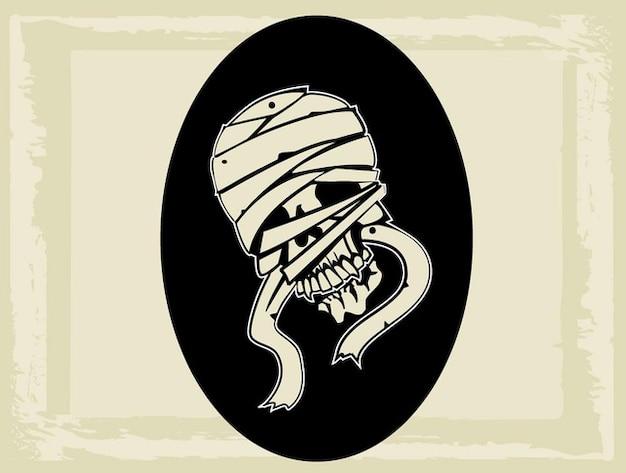 Vecteur de créature graphique mummy