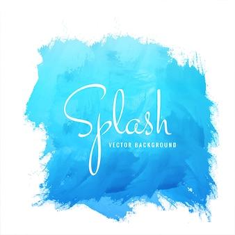 Vecteur de conception aquarelle splash bleu
