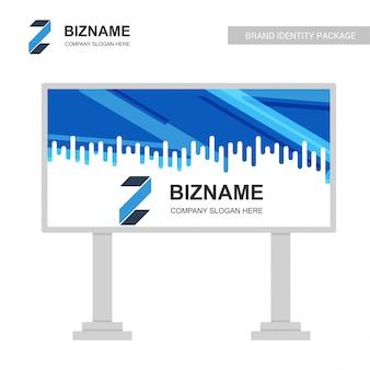 Vecteur de conception de panneau d'affichage d'affaires
