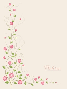 Vecteur de fleur rose rose