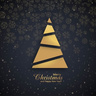 Vecteur de fond belle fête joyeux Noël arbre
