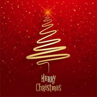 Vecteur de fond belle joyeux Noël arbre célébration