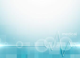 Vecteur de fond de science médicale bleue