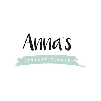 Vecteur de logo de placard vintage Annas