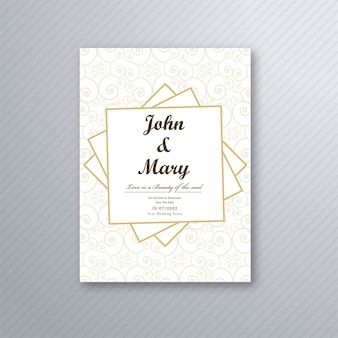 Vecteur de modèle de carte invitation mariage