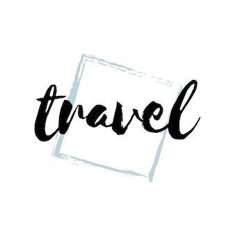 Vecteur de typographie ou logo de voyage
