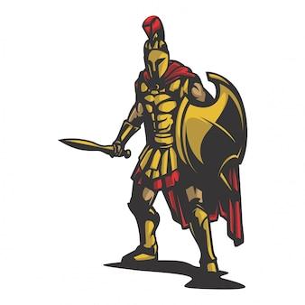 Vecteur de défense du roi sparta