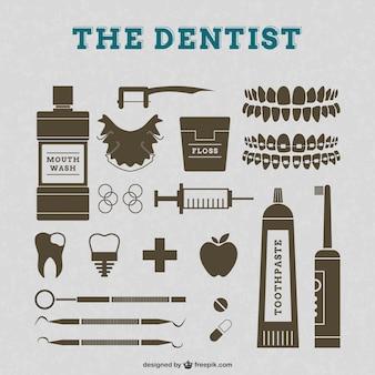 Vecteur de dentiste graphismes rétro