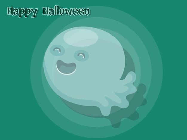 Vecteur de dessin animé fantôme halloween sur fond. illustration vectorielle.