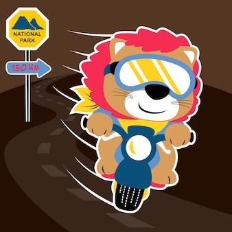 Vecteur de dessin animé de motard
