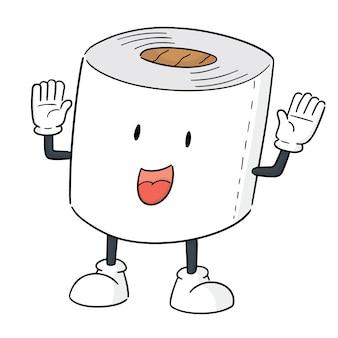 Vecteur de dessin animé de papier de soie