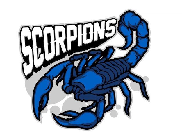 Vecteur de dessin animé de scorpion bleu
