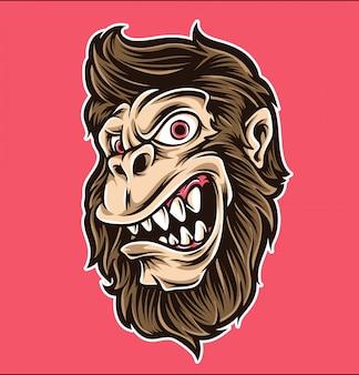Vecteur de dessin animé de singe