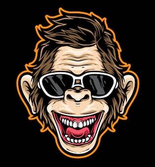 Vecteur de dessin animé singe