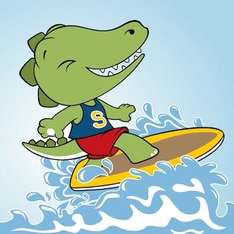 Vecteur de dessin animé de surf