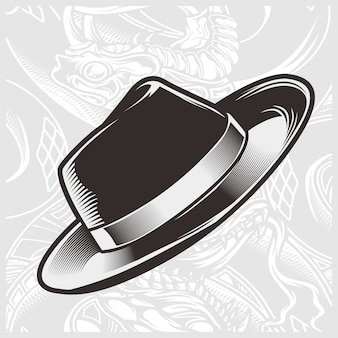 Vecteur de dessin main chapeau