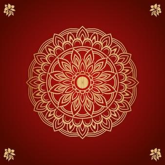 Vecteur de dessin ornement mandala