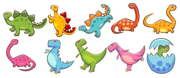 Vecteur de dinosaure set clipart graphique