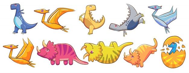 Vecteur de dinosaure set clipart