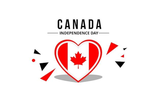 Le vecteur de drapeau canadien avec des couleurs originales peut être un arrière-plan ou un ornement ou même un emblème