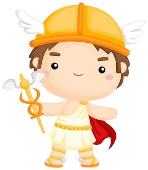 Un vecteur du dieu grec hermès