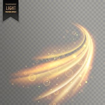 Vecteur effet de lumière miroitement transparent