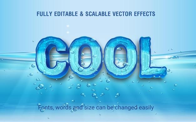 Vecteur d'effet de texte modifiable cool