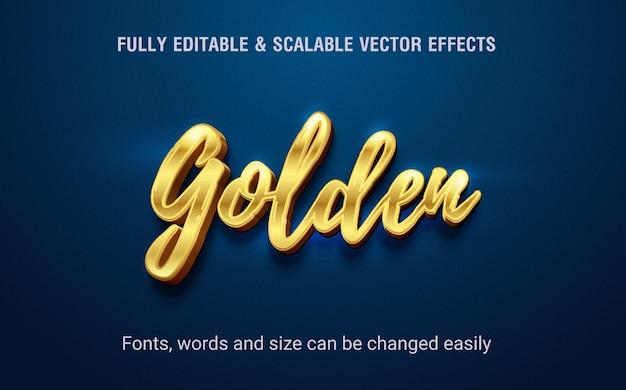 Vecteur d'effet de texte modifiable doré