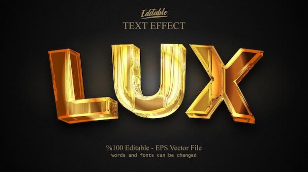 Vecteur d'effet de texte modifiable lux