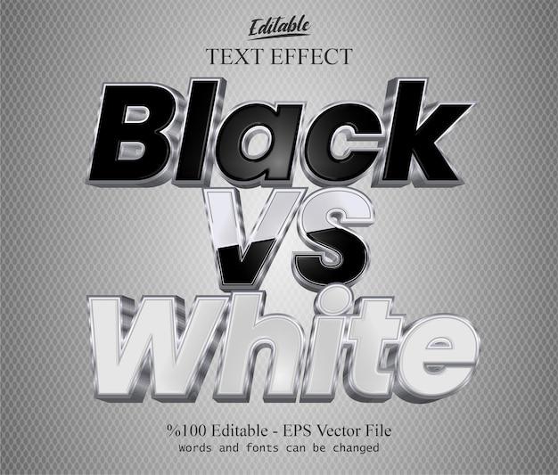 Vecteur d'effet de texte modifiable noir vs blanc