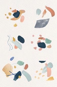 Vecteur d'élément de conception abstraite colorée