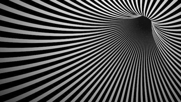 Vecteur d'élément de conception de vortex mystère monotone 3d
