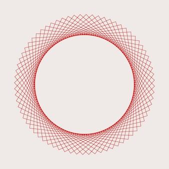 Vecteur d'élément géométrique circulaire abstrait
