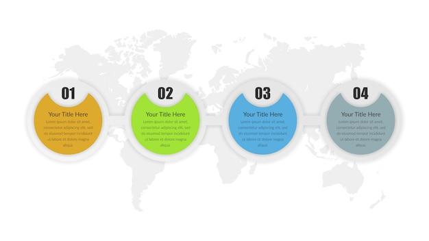 Vecteur d'élément infographique abstrait coloré