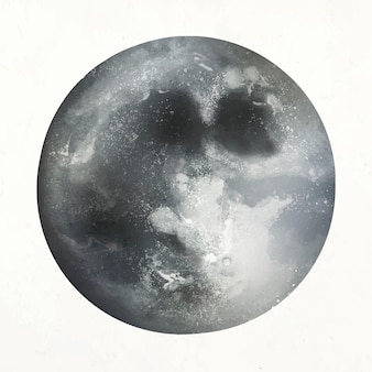Vecteur d'élément de pleine lune réaliste