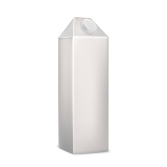 Vecteur d'emballage de boîte de carton vierge de boisson au lait