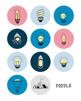 Vecteur d'un ensemble d'ampoules