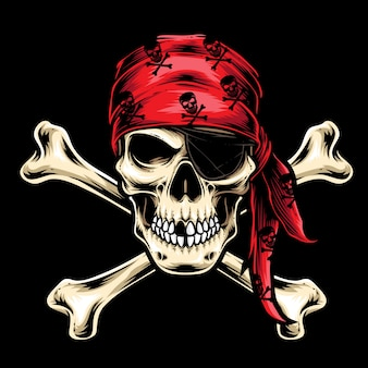 Vecteur d'équipage de crâne de pirate