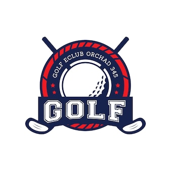 Vecteur d'étiquette de badges de golf