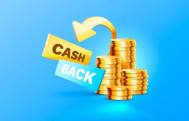 Vecteur d'étiquette de paiement financier de service de remise en argent