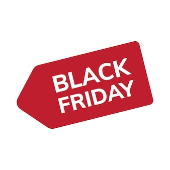 Vecteur d'étiquette de vente black friday