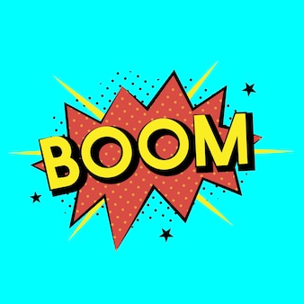 Vecteur d'explosion de boom