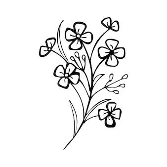 Vecteur fait main floral