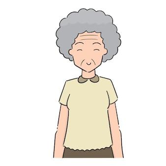 Vecteur de femme aînée