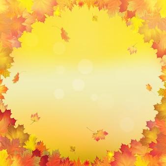 Vecteur de feuilles d'automne rouge orange brun et jaune