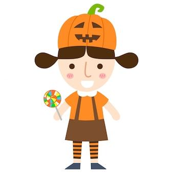 Vecteur de fille halloween
